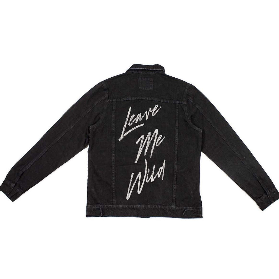 Atticus Denim jacket - leave me wild - poem merch
