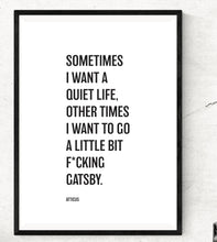 Gatsby Print - Poetry poster - Atticus poem