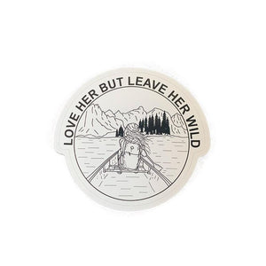 Canoe - Atticus Poem - Sticker