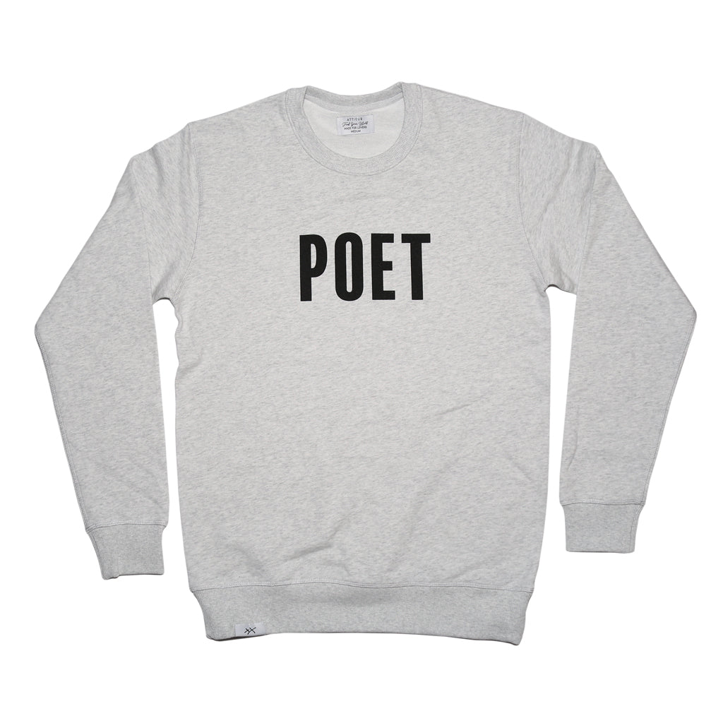 POET Crew Neck - Heather Grey
