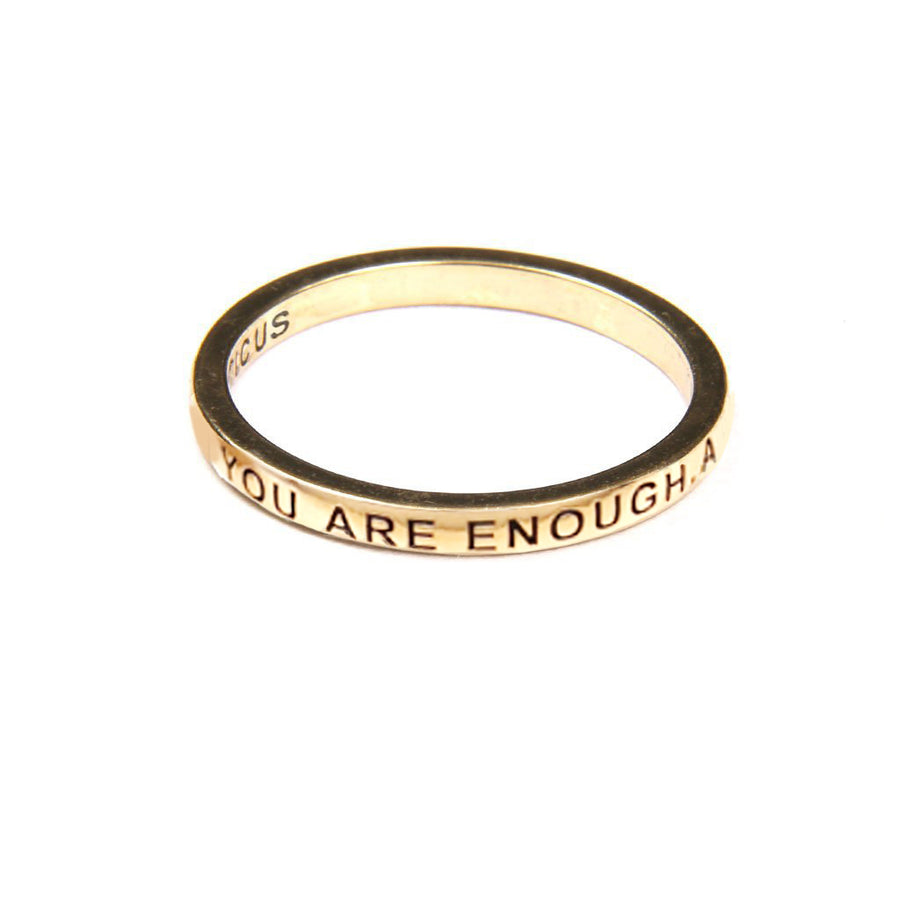 You Are Enough Ring - Gold