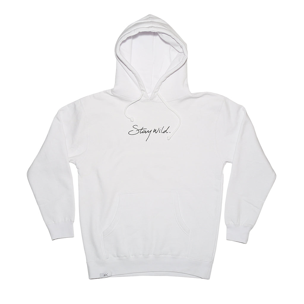 Stay Wild White Hoodie - Atticus Poetry Merch - Poems