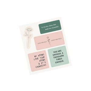 Collection of Poems - Sticker Sheet