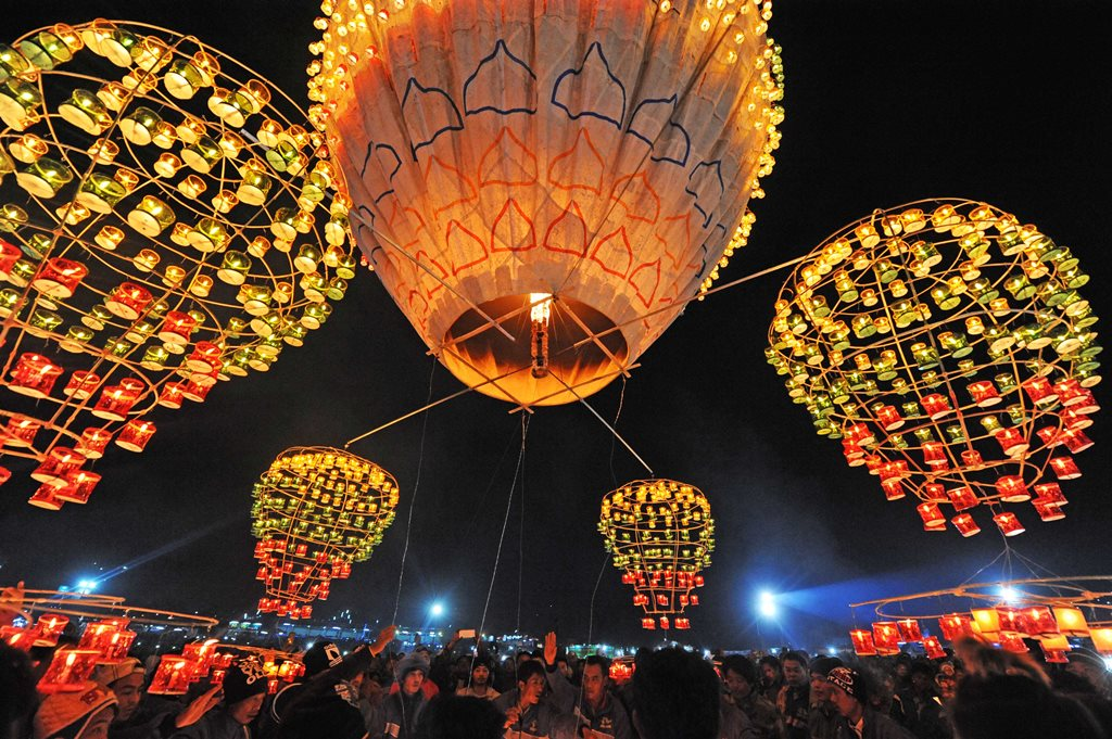 Hot Air Balloon festival and contest in Taungyi - Myanmar - Burma - 17 to 22 November 2018
