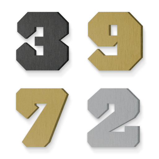 Custom house number font acropolis black