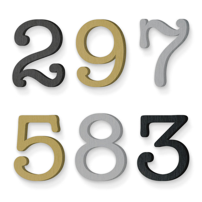 Custom house number font american typewriter regular