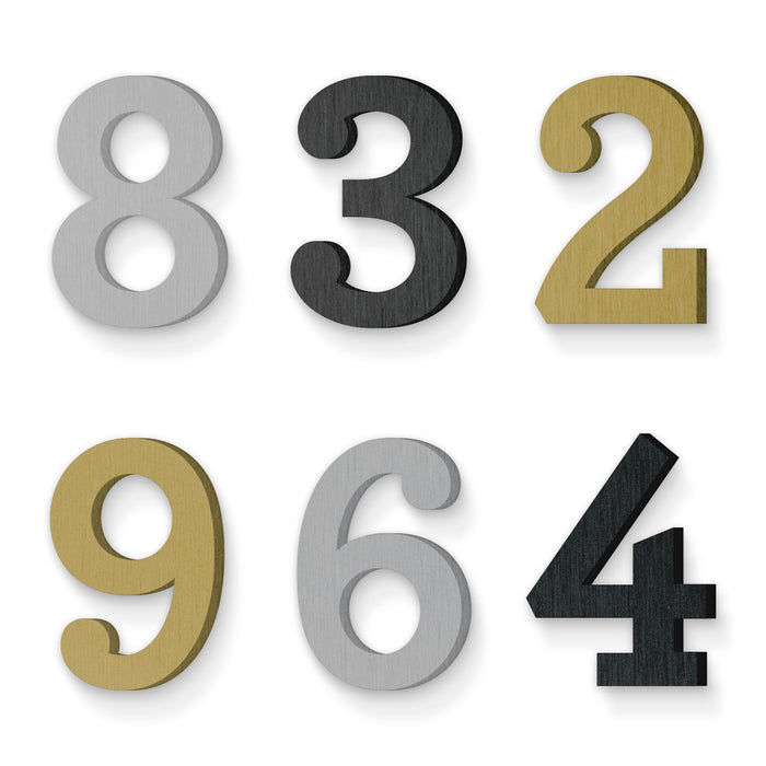 Custom house number font archer bold
