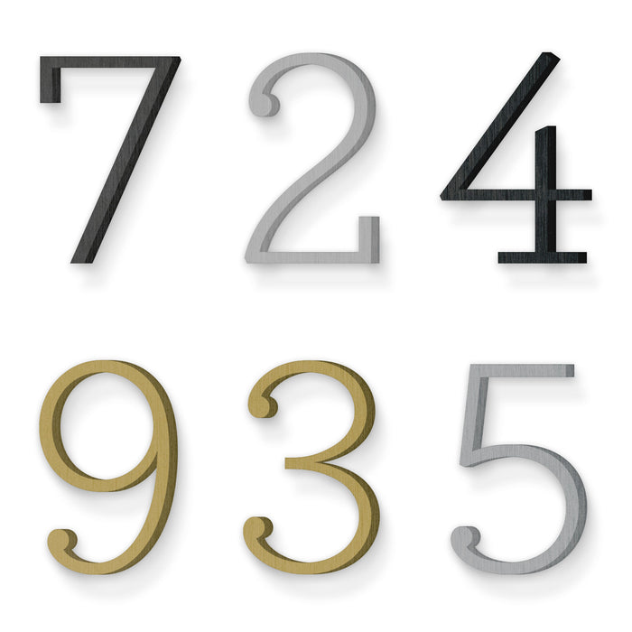 Custom house number font archer light