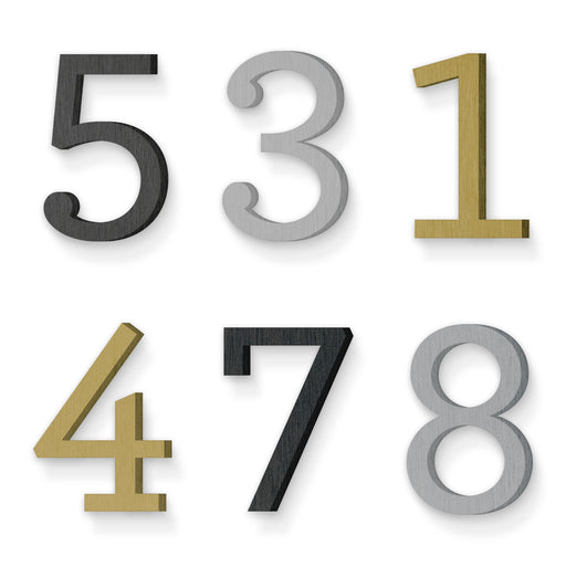 Custom house number font archer medium