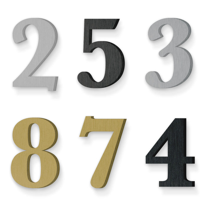 Custom house number font baskerville bold