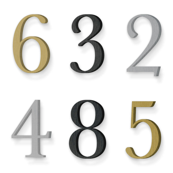 Custom house number font baskerville regular