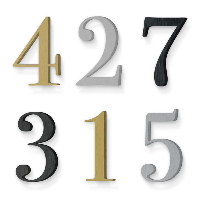 Custom house number font bodoni book