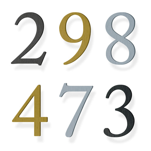 Custom house number font caslon