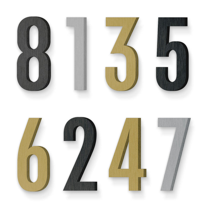 Custom house number font chalet comprime cologne 70