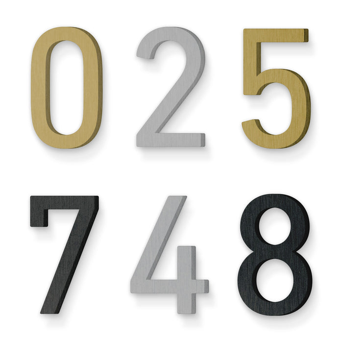 Custom house number font din regular