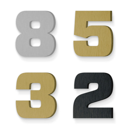 Custom house number font forza black