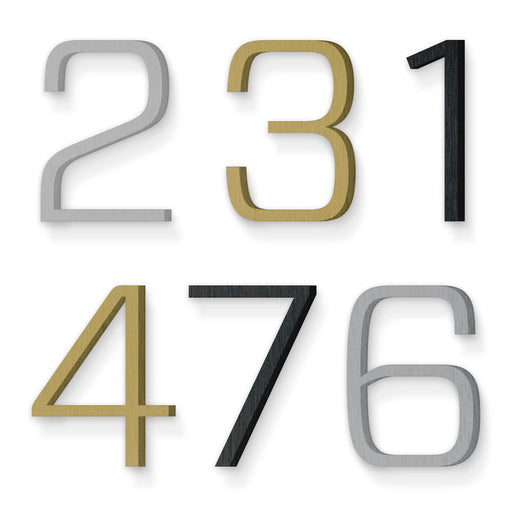 Custom house number font forza light