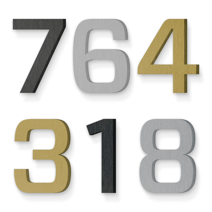 Custom house number font forza medium