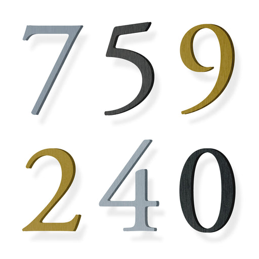 Custom house number font garamond