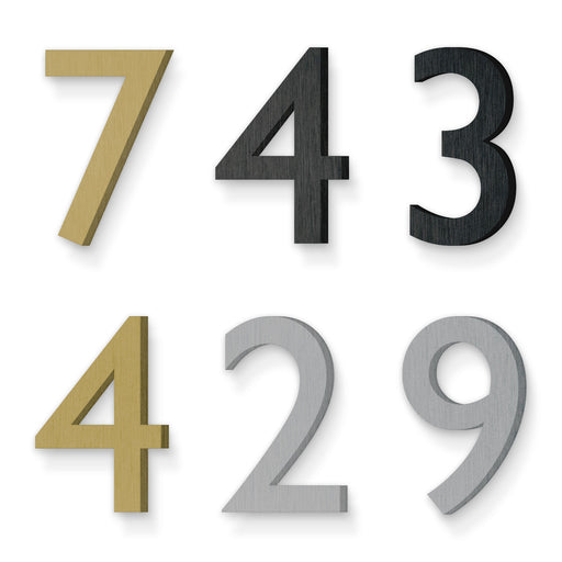 Custom house number font gill sans regular