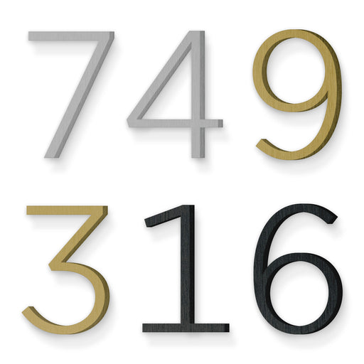 Custom house number font gotham light