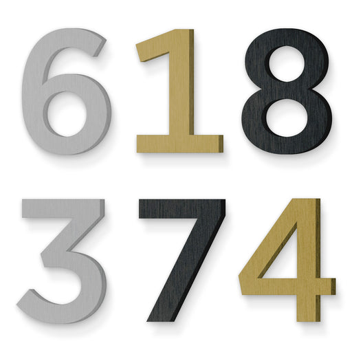 Custom house number font gotham medium