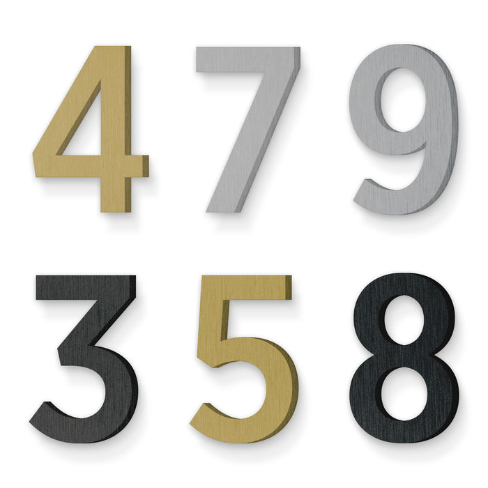 Custom house number font gotham narrow medium