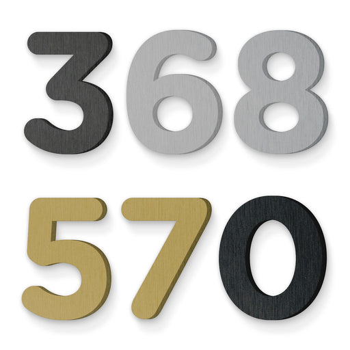 Custom house number font gotham rounded bold