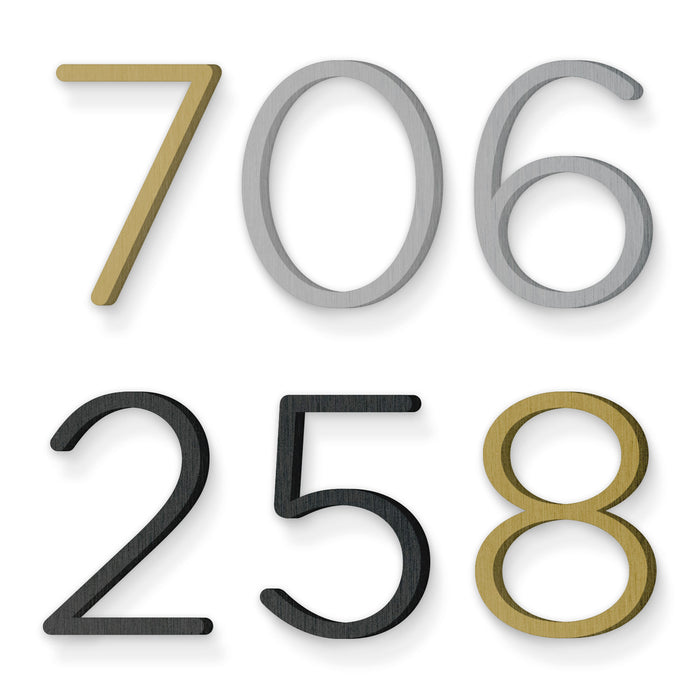Custom house number font gotham rounded light