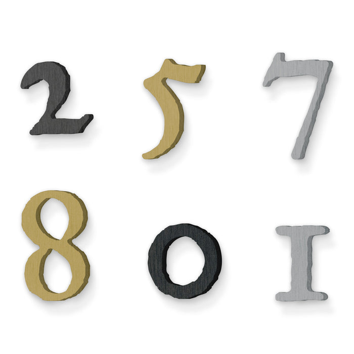 Custom house number font historical fell type