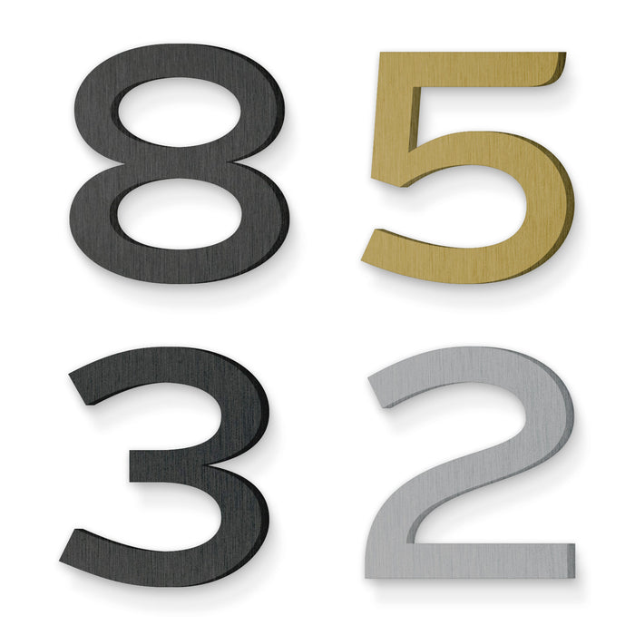 Custom house number font knockout 36 jr sumo