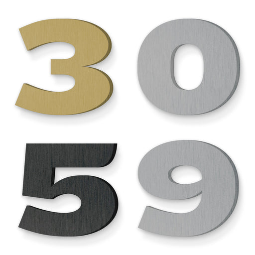 Custom house number font knockout 74 full sumo
