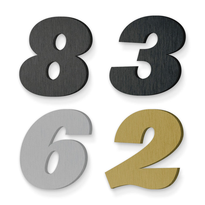Custom house number font leviathan black italic