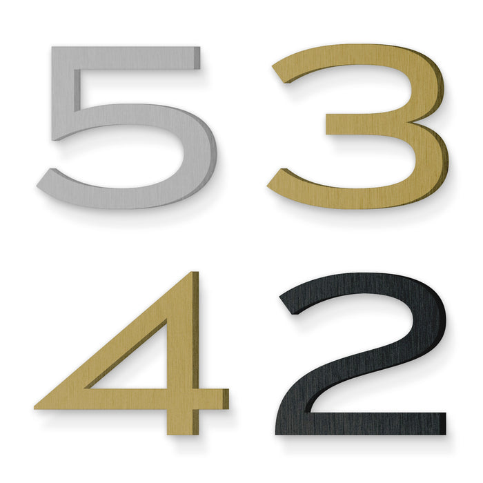 Custom house number font luxury gold