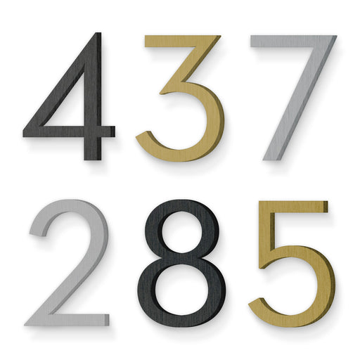 Custom house number font neutraface book
