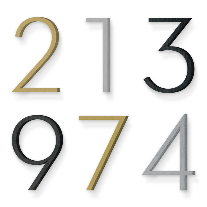 Custom house number font neutraface light
