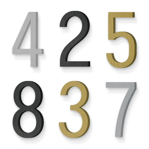 Custom house number font numbers claimcheck