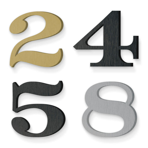 Custom house number font numbers depot