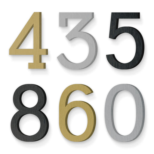 Custom house number font numbers deuce
