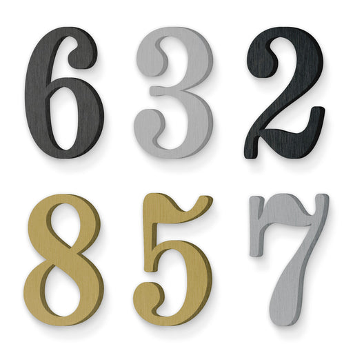 Custom house number font numbers indicia