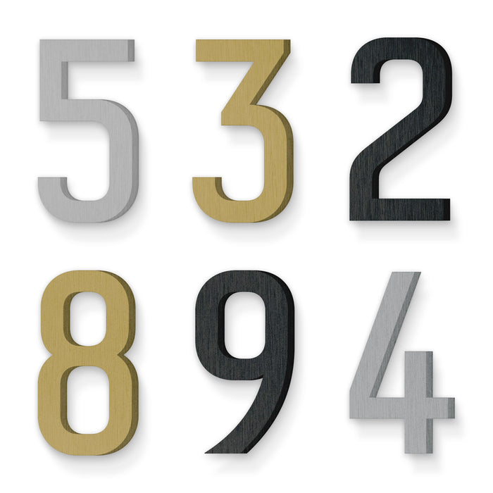 Custom house number font numbers redbird