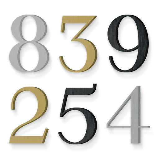Custom house number font numbers valuta