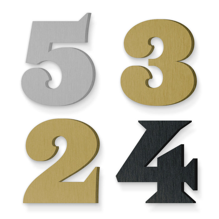 Custom house number font saracen black