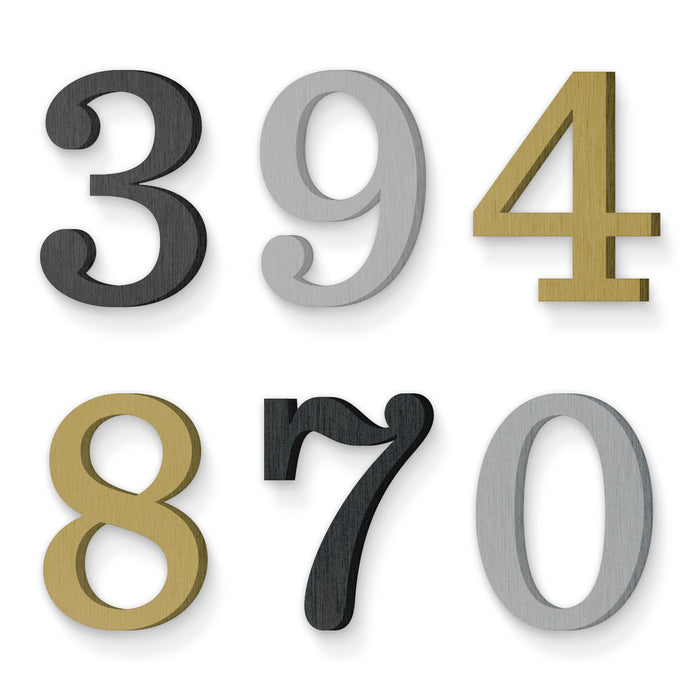 Custom house number font sentinel medium