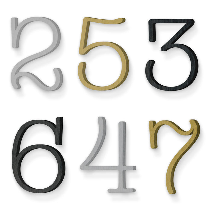Custom house number font shag mystery