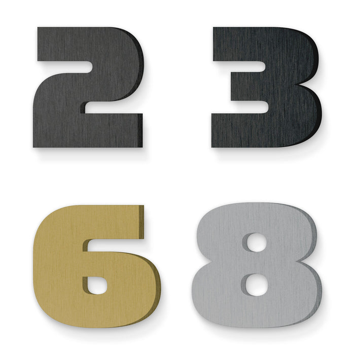 Custom house number font simian bold