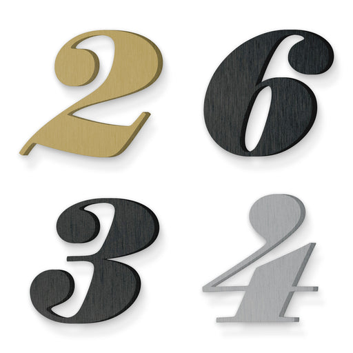 Custom house number font suveyor black italic