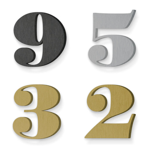 Custom house number font suveyor black