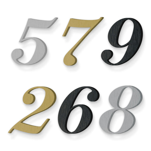 Custom house number font suveyor medium italic