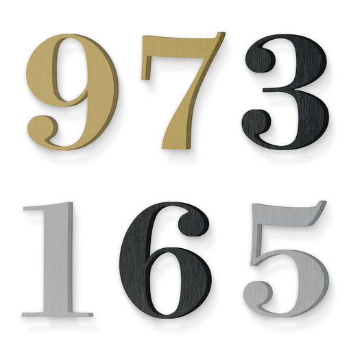 Custom house number font suveyor medium